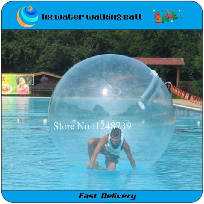 Free Shipping 2M Soccer Design 0.80mm PVC Inflatable Water Walking Ball Aqua Zorb Customized Acceptable(China (Mainland))