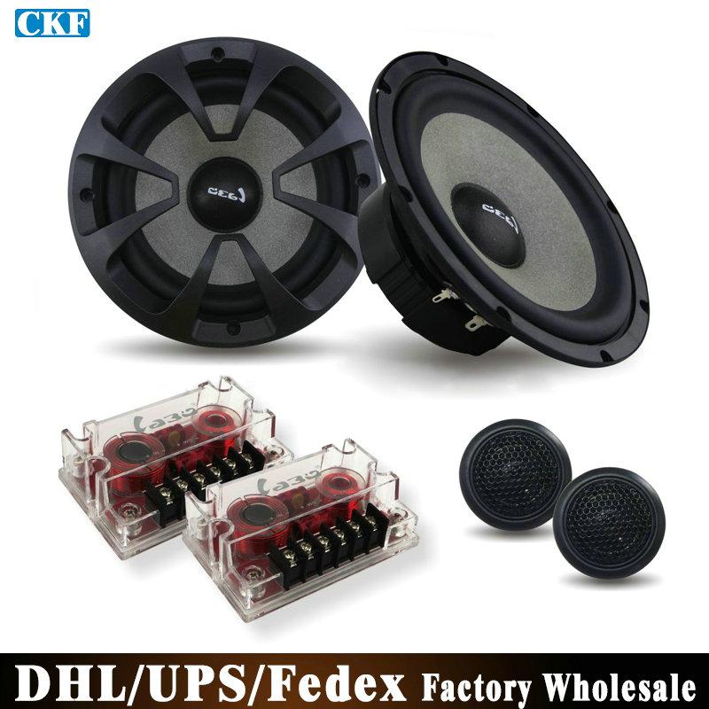 DHL/Fedex/UPS 10 Sets 6.5 Inch Non-destructive Install Car Audio Speakers Car Set Sound LB-TC165B(China (Mainland))