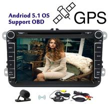 Buy 2 din Android car gps navigator player for for new VW Volkswagen Magotan / Sagitar / Golf / Bora / Touran / Caddy EOS Leon POLO for $289.99 in AliExpress store