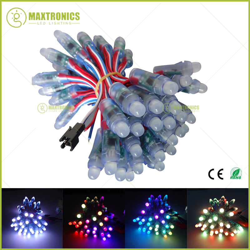 300Pcs 12mm WS2811 Full Color Pixel LED Module Light Waterproof IP68 DC12V Fast shipping(China (Mainland))