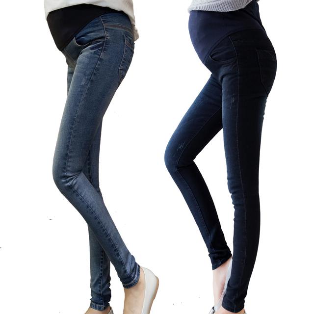 2016 весна беременным джинсы высокое качество эластичный пояс брюки беременных женщин ...