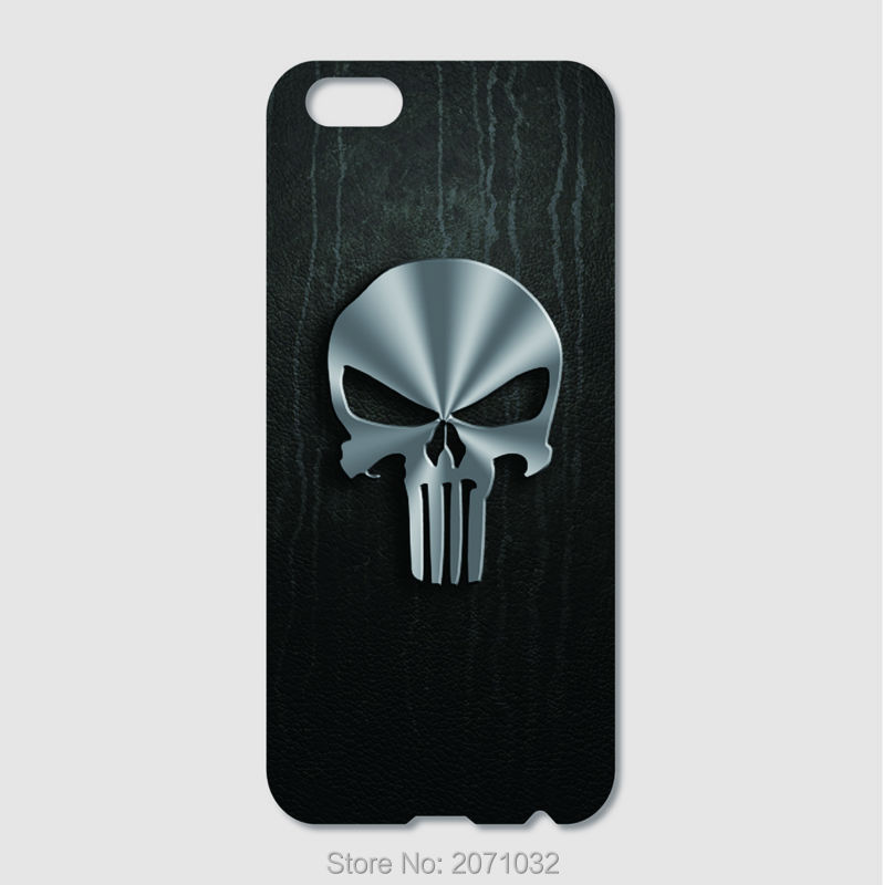The Punisher Skull Logo Case For iPhone 6 6S Plus 5S 5C 4S iPod Touch 6 5 4 For Samsung Galaxy S7 S6 Edge Pus S5 S4 S3 Note 5 4(China (Mainland))