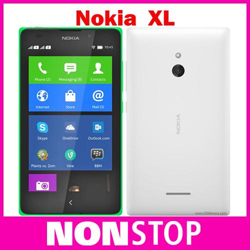 Unlocked Original Nokia XL Qualcomm Snapdragon S4 Dual SIM Cell Phones 5 inch 768MB LCD Screen 5.0MP Camera 3G WCDMA cell phone(China (Mainland))