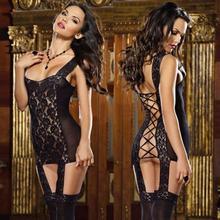 Sexy Lingerie Women Fishnet Open Crotch Babydoll Bodysuit Nightwear Erotic Lingerie Dress Teddy Underwear