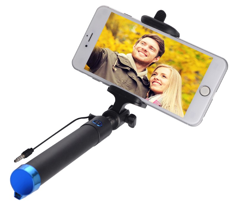 image for Mini Wired Extendable Handheld Selfie Stick Monopod For IPhone 5 5C 5S