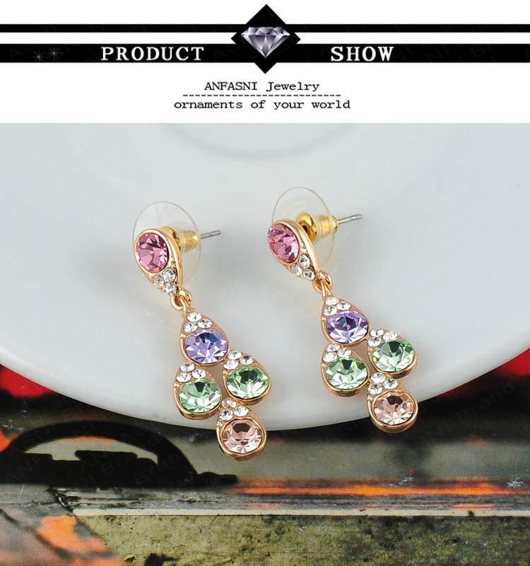 Серьги-гвоздики ANFASNI Crystal SWA 13 * 37 0048