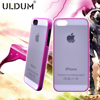 Ultra-thin uldum 5 for apple phone case plastic for lovers for iphone 5 phone case