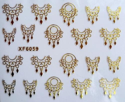 Гаджет  XF 3D gold-plated nails nail stickers nail art supplies wholesale XF6059 None Красота и здоровье
