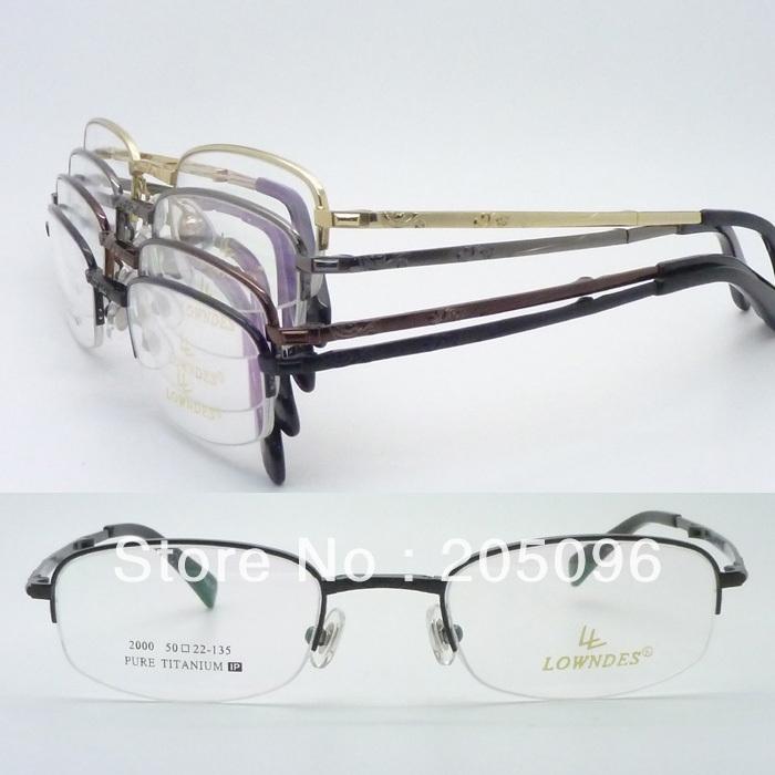wholesales 2000 man folding lightweight titanium alloy halfrim IP vacuum eletroplating color optical eyeglass framesОдежда и ак�е��уары<br><br><br>Aliexpress