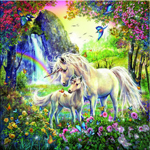 Buy diy 5d embroidery crafts children's painting Cross stitch full diamond cross Kits Mosaic unicorn icons diamond child puzzle for $6.32 in AliExpress store