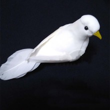 10PCS,13*4*6CM Small White Birds Artificial Feather Foam Doves,DIY Bird Ornaments,Decoration for Wedding Party,Christmas,Home(China (Mainland))