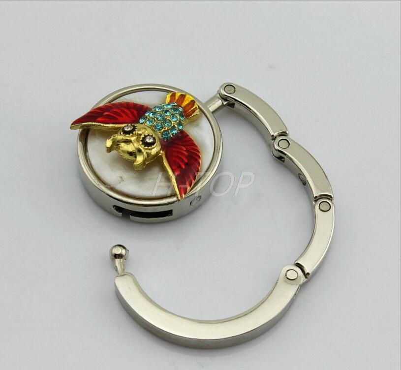 The Owl Pattern Metal Folding Handbag Purse Hook E8289(China (Mainland))