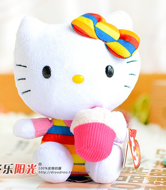 Toys  for children  Cake Hello Kitty doll plush baby gifts one piece(China (Mainland))