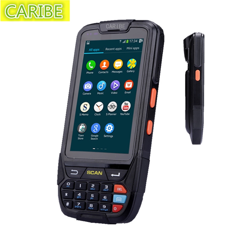 Caribe PL-40LAc019 duad core small rugged handheld mobile terminal gps gsm with 1d barcode reader(China (Mainland))
