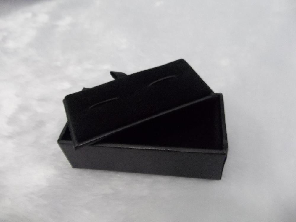 Free EMS Brand New 120pcs Cufflinks Box Jewelry Boxes Holder Jewelry Findings Display Casket(China (Mainland))