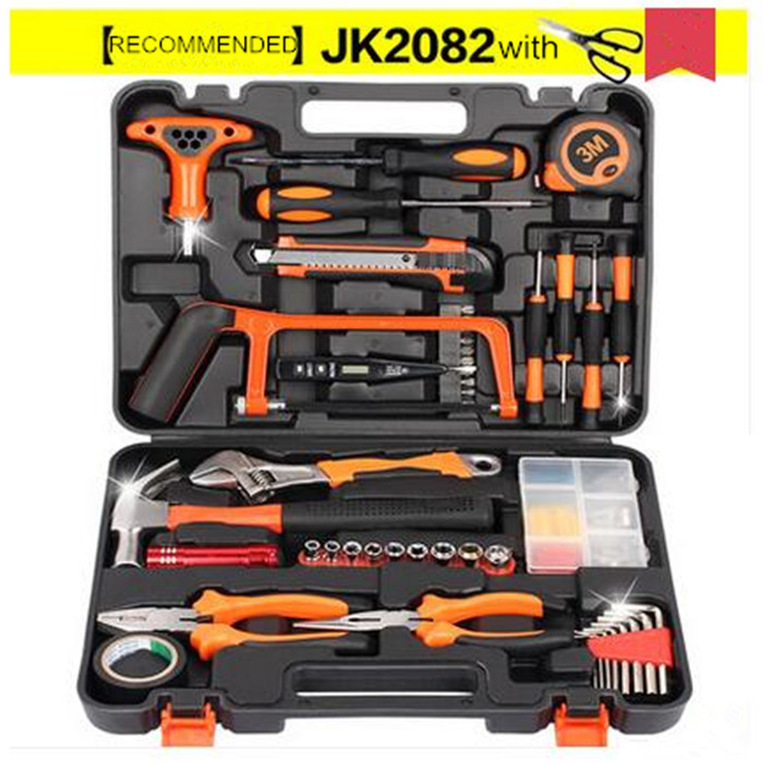 82pcs Practical Toolbox Electrician Metal Toolbox Household Hardware Hand Tools Combination Suit Maintenance Tools Set(China (Mainland))