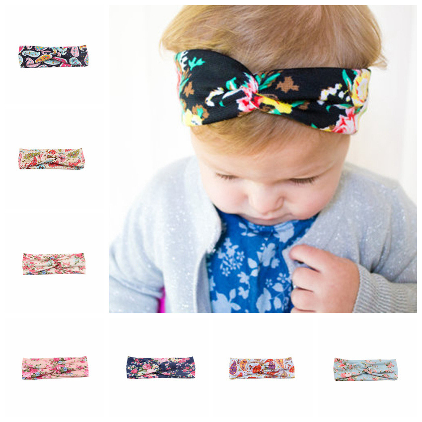 2016 Baby Top Knot Headbands girls Headwrap infant newborn headbands Hair band Cross Knot Baby Turban Tie Knot Headwrap(China (Mainland))
