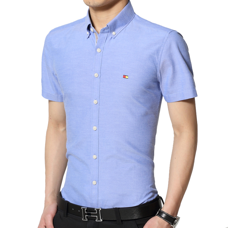 Fashion mens slim fit stylish short sleeve dress short for Mens dress shirt sleeve length