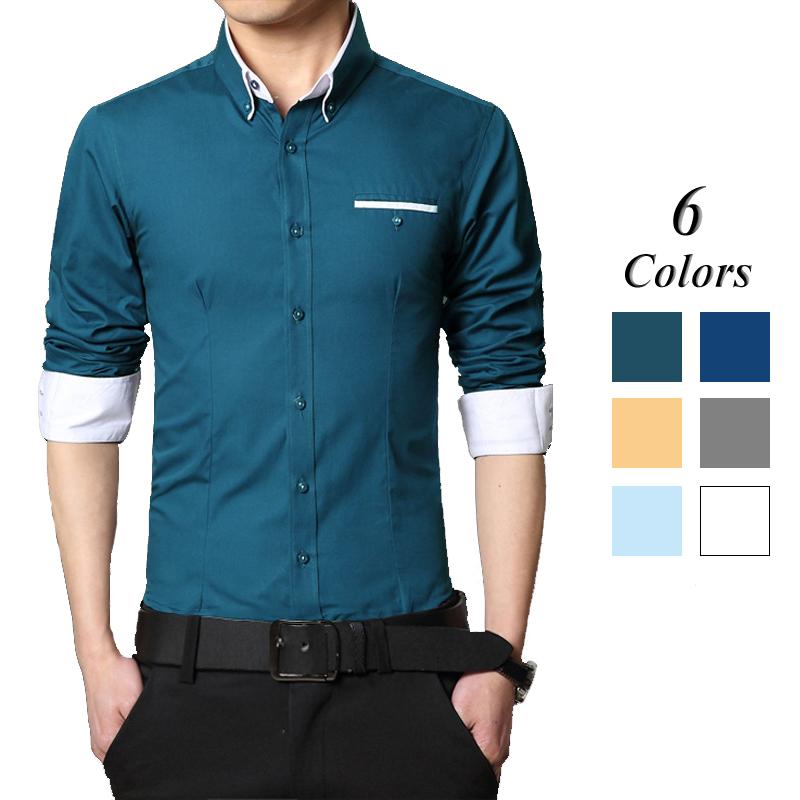 Мужская классическая рубашка Dermay Slim Fit , 4XL Camisa Masculina 6Colors DM03241827 мужская футболка dermay slim fit t v 6 homme m 3xl