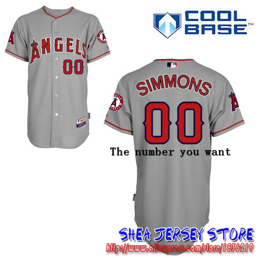 Andrelton Simmons Los Angeles Angels of Anaheim Jerseys, White Grey Red  2016  Baseball Jersey Free shipping<br><br>Aliexpress