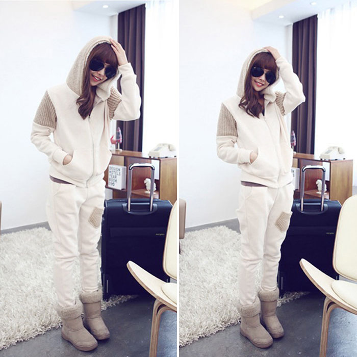 New Women New Arrival Sport Leisure Hoodie Coat Jacket Outwear Pants Slacks Set  (China (Mainland))