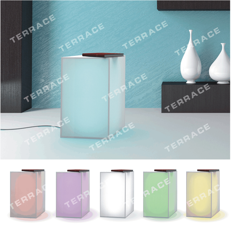 Foggy Acrylic Lighting nightstand,Lucite LED Side Sofa Tables  <br><br>Aliexpress
