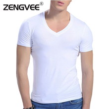 Comfortable men cotton 6 Color V neck short sleeve undershirts sweat and proof underwear(Size:M L XL XXL)-Free shipping(China (Mainland))