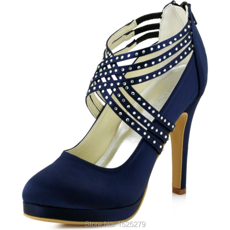 Navy blue wedding shoes for bride – Top wedding USA blog