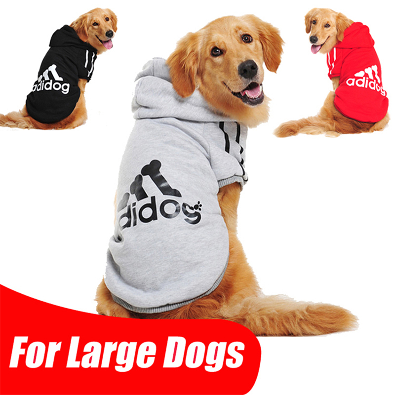 Pet Dog Clothes Plush Adidog Pet Clothing For Large Size Dog Hoodie Shop Golden Retriever Coat New Sport Puppy Clothes For Dog(China (Mainland))