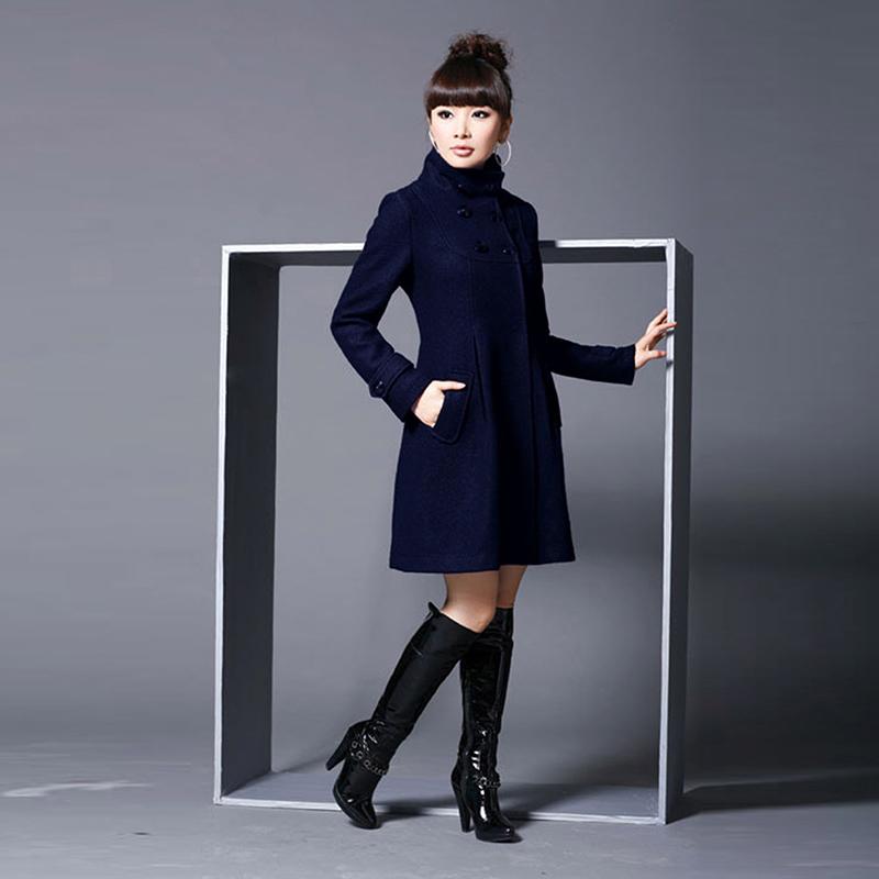 Women Plus Size 5XL Wool Outerwear Coats 2015 Long-sleeve Hooded Big Woolen Long Design Overcoat 2XL 3XL 4XL XXXXXL
