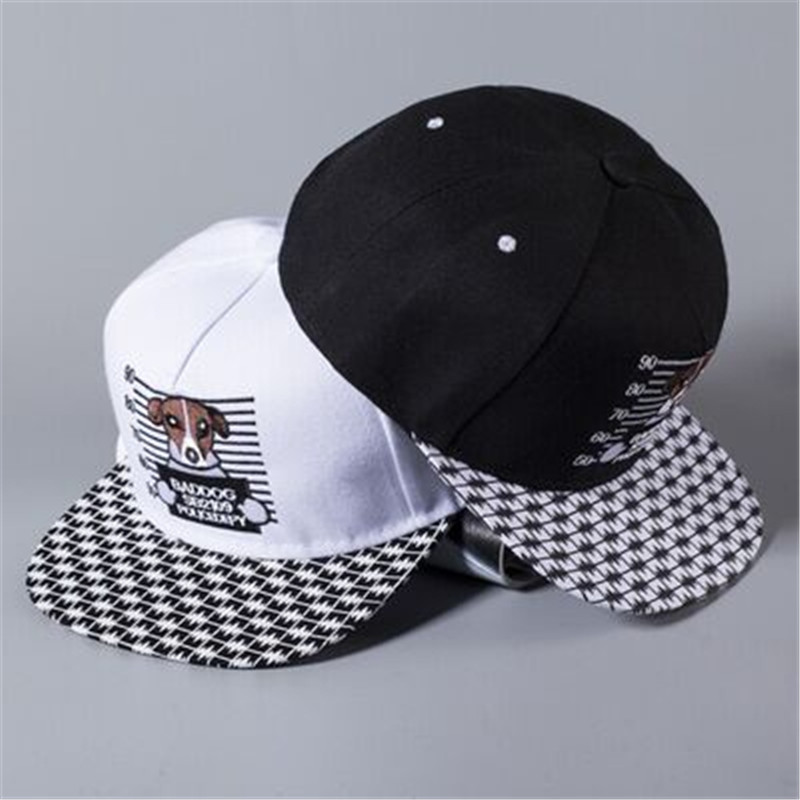 spring and summer cute cartoon dog hip hop flat along the cap baseball cap men hat female tide couple hip-hop hat cap dog travel(China (Mainland))