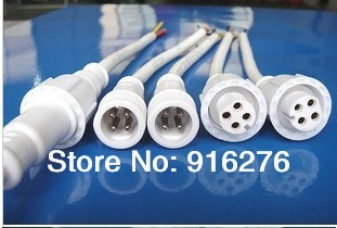 50pairs 4 Core White male and female Waterproof pigtail connector 2 X 20cm long<br><br>Aliexpress