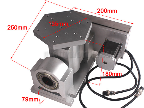 Buy cnc rotary axis 4th 5th axis for Cnc rotary table with stepper motor