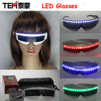 Free Shipping 6 Colors Flash LED Glasses, Laser Emitting Glasses, X-Men Flashing Glasses For Nightclub Performers