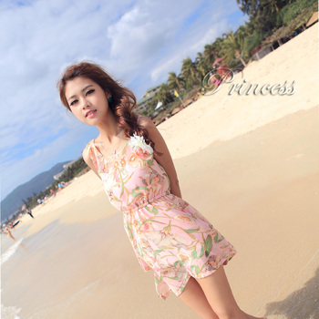 2013 orchid skirt elastic one-piece dress one-piece dress reversible beach dress
