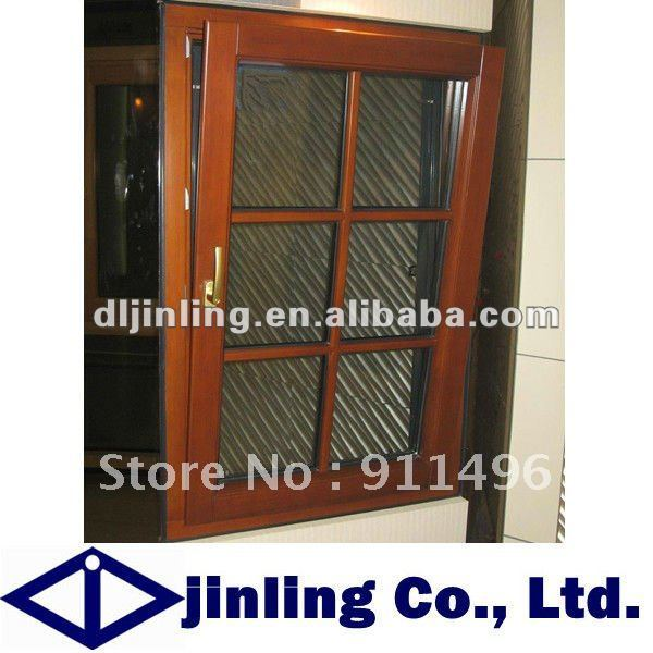 Solid wood frame windows grill design wood window for Wood window manufacturers