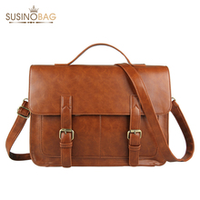 Ecosusi Vintage Men Messenger Bags Brand  Satchel men's briefcases office men crossbody bags(China (Mainland))