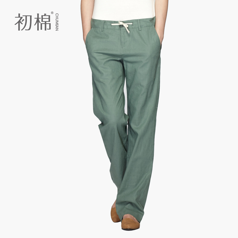 Cotton-summer-women-s-fluid-casual-pants-trousers-linen ...