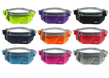 TEXU Unisex Outdoor Men Women Waist Packs Bags Unisex Sport Running Nylon Waistband for accessory men