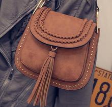 2016 Designer handbags high quality women Saddle bag tassel women leather handbags