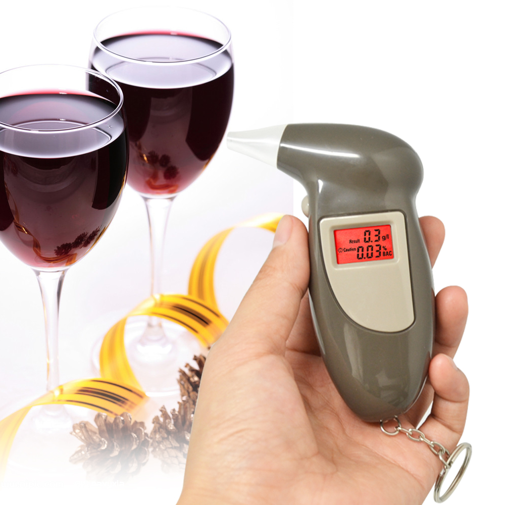 Free Shipping, Key Chain Alcohol Tester, Digital Breathalyzer, Alcohol Breath Analyze Tester (0.19% BAC Max) , Wholesale(China (Mainland))