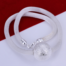 Fashion Charming Individual 925 Sterling Silver jewelry Statement Necklace Women Choker Crystal Necklaces Pendants Collares
