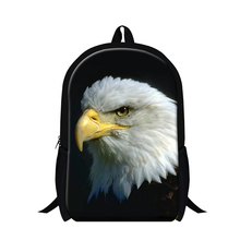 Buy 2016 3D bald eagle cool backpacks boys,animal print school bags teenagers day back packs,girls mochila children bookbags for $19.76 in AliExpress store