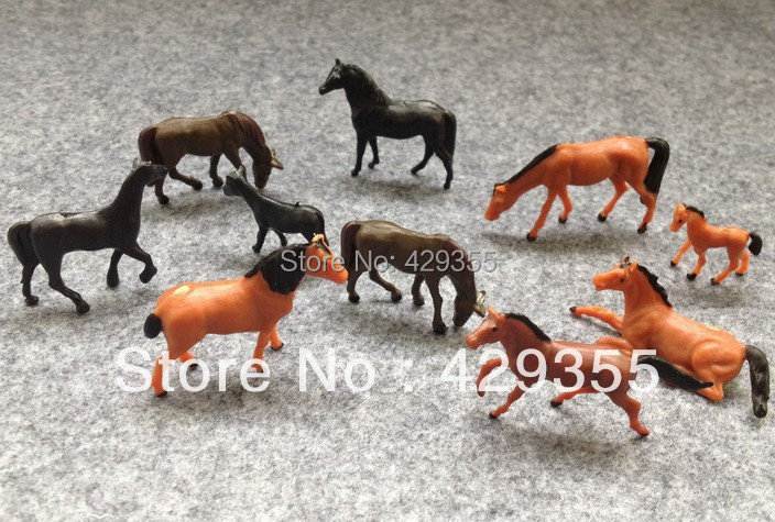 wholesale general scale Well Painted Farm Model Animals Cows for architecture<br><br>Aliexpress