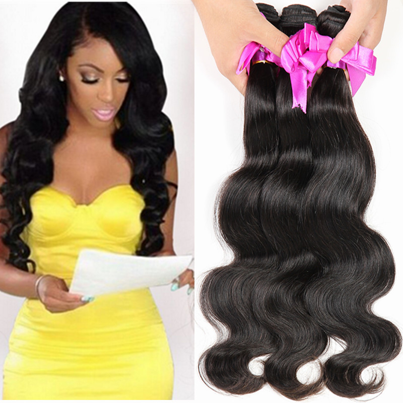 Cheap 7A Unprocessed Virgin Human Hair Weave Bundles 4Pc Mongolian Human Hair Extensions Body Wave Wet And Wavy Human Hair Weave(China (Mainland))