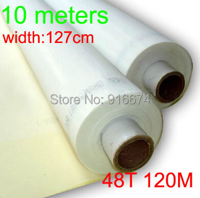 10 meters Cheap Discount 48T 120M high quality polyester silk screen printing mesh 127cm width Free shipping(China (Mainland))