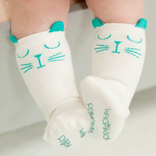 2015 Brand White and gray cat baby cotton girls socks fashion meias infantil boys socks Magic Socks