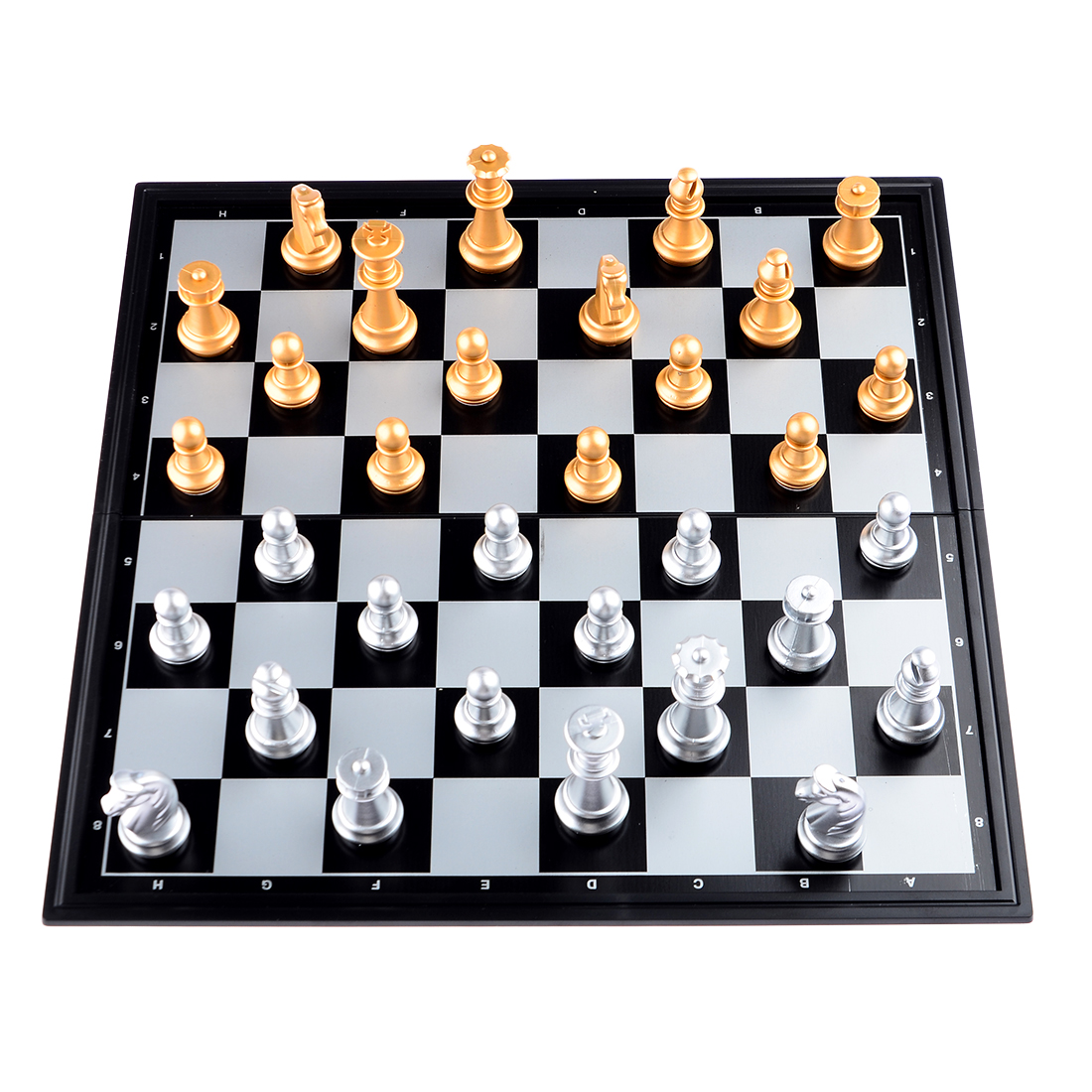 2016 New Portable Chess Game Set Checkers Folding Magnetic