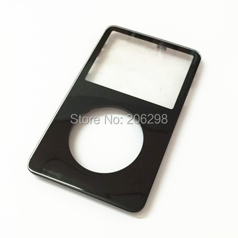 Free Shipping 1pc Front Faceplate Fascia Housing Case Cover Shell for iPod 5th Gen Video 30GB 60GB 80GB(black)(China (Mainland))