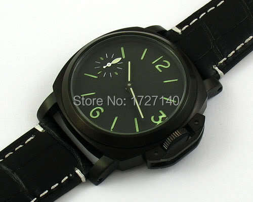 E594,Parnis 44mm MEN PVD MECHANICAL Sandwich dial hand winding steel LUXURY 6497<br><br>Aliexpress